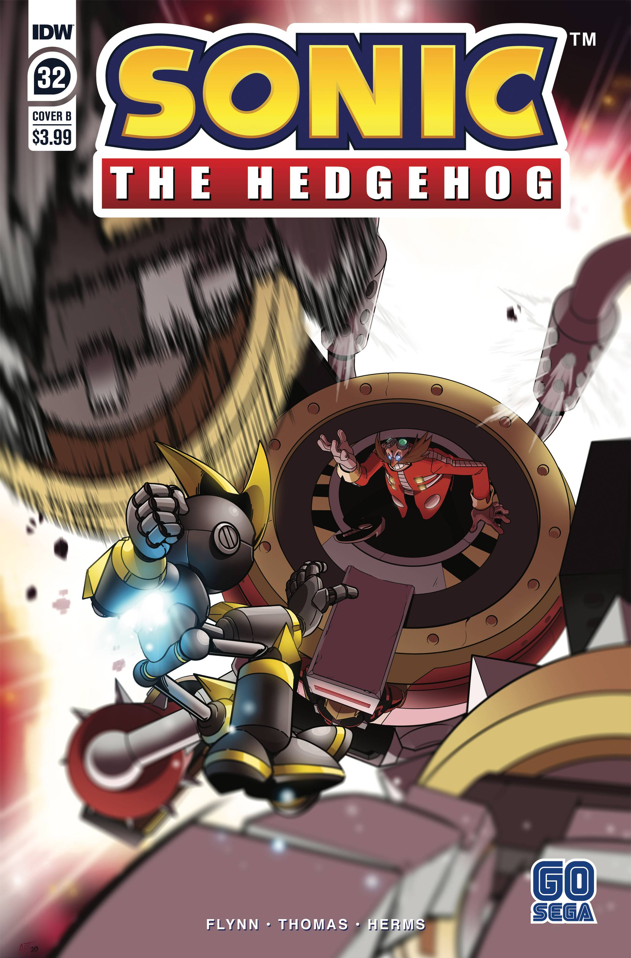 SONIC THE HEDGEHOG #32 CVR B THOMAS